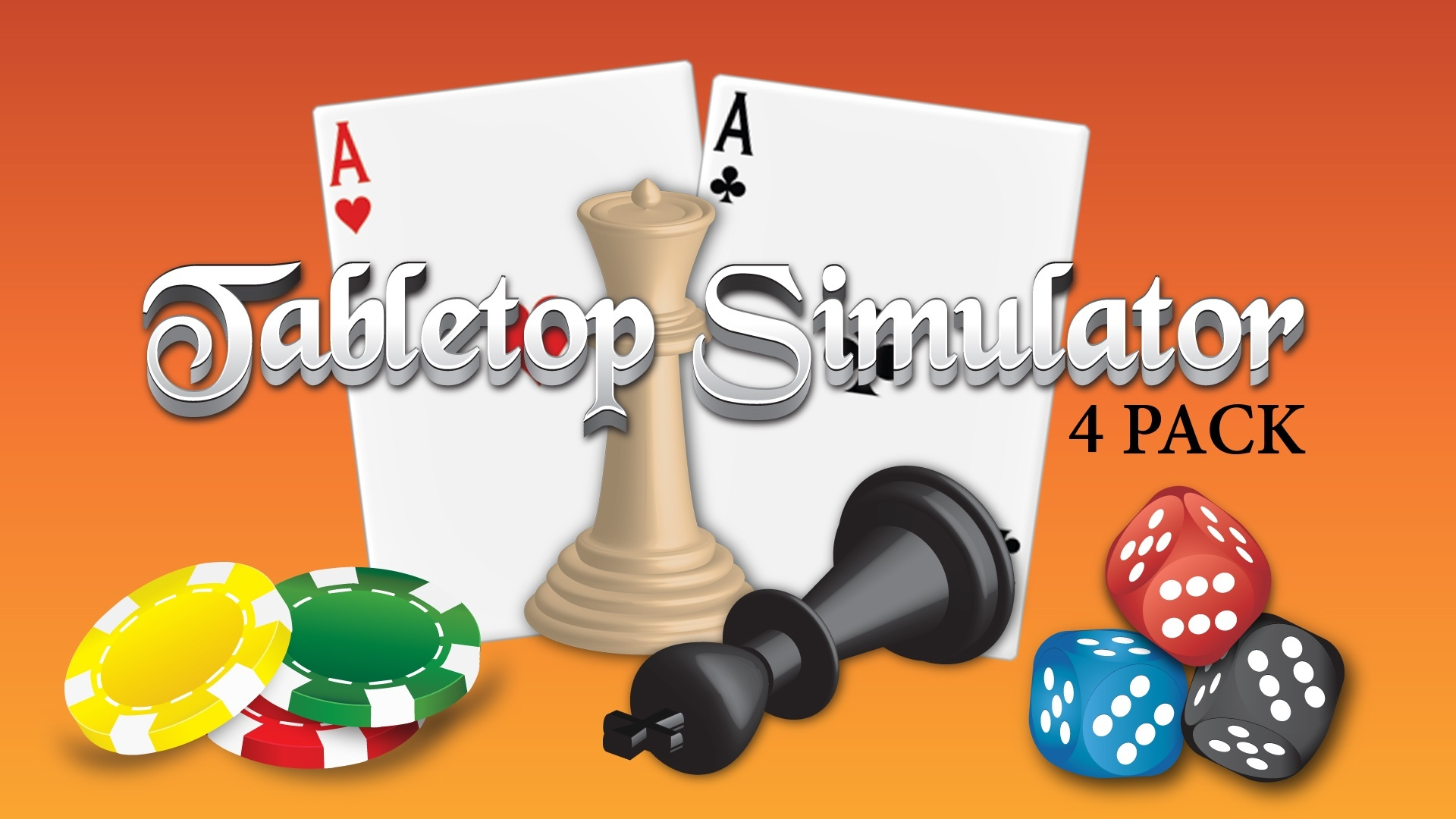 Tabletop Simulator 4 Pack | Linux Mac PC Steam Game | Fanatical